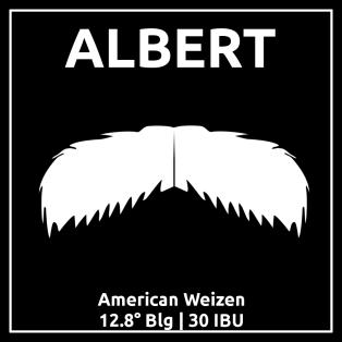 Etykieta piwa Albert